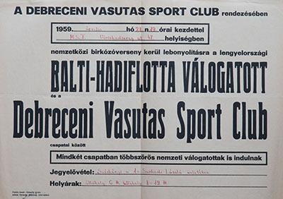Debreceni Vasutas Sportklub rendezvénye