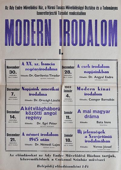 Modern Irodalom I.