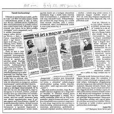 Mi árt a magyar szellemiségnek? - újságcikk