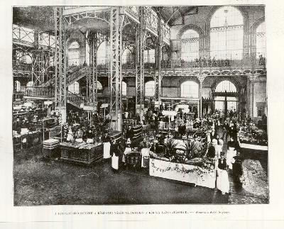 Vásárcsarnok a Vámház téren, Budapest, 1897