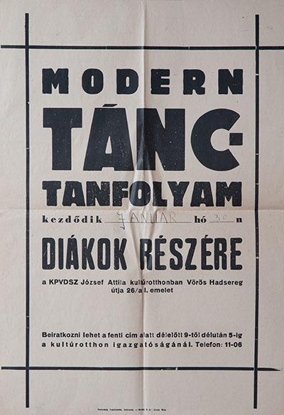 Modern tánctanfolyam