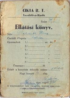 Ellátási könyv - Horváth Ilona