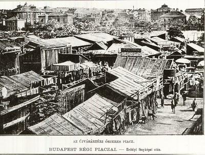 Piac a Újvásár téren, Budapest, 1897