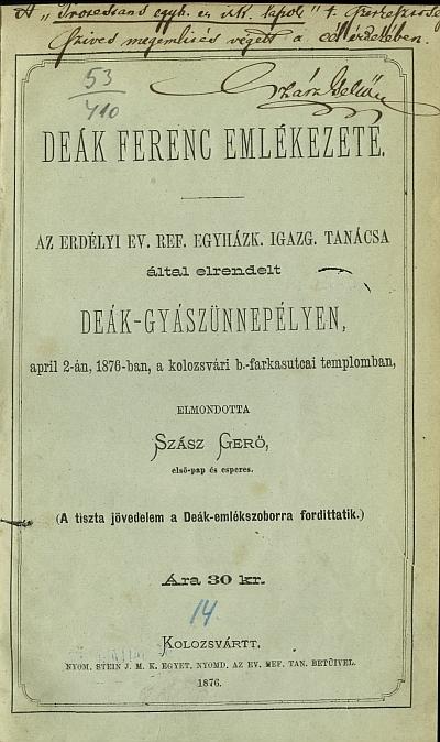 Deák Ferenc emlékezete
