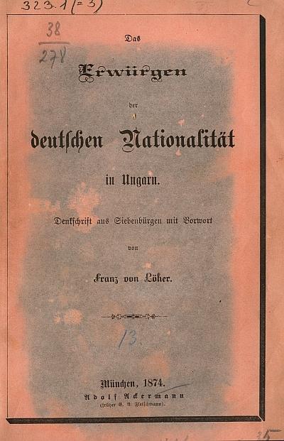Das Erwürgen der deutschen Nationalität in Ungarn