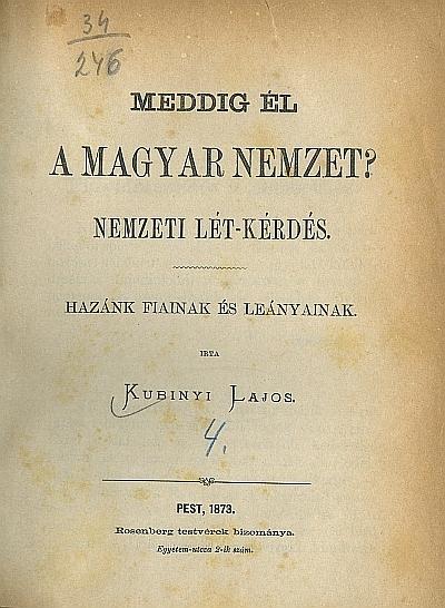 Meddig él a magyar nemzet?