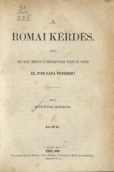 A romai kérdés