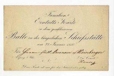Családi belépő bálra a polgári lövöldében, 1856
