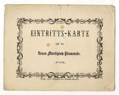 Belépő az Újvásártéri promenádra, 1857
