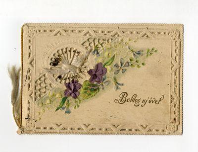 Újévi üdvözlőkártya, kitöltetlen, é.n.