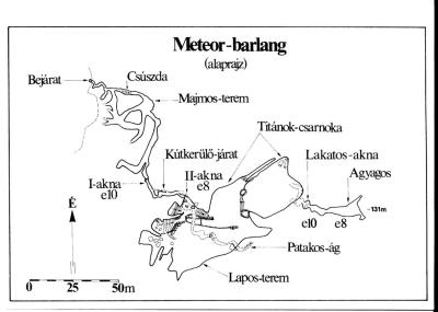 Meteor-barlang térképek
