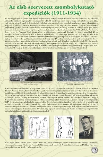 Az első szervezett zsombolykutató expedíciók ( 1911-1934 ) kiállítási tablókép