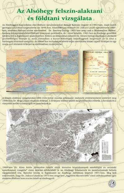 Az Alsóhegy felszín-alaktani és földtani vizsgálata kiállítási tablókép