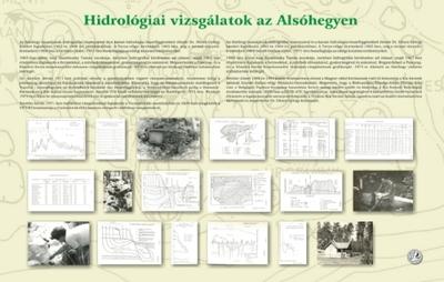 Hidrológiai vizsgálatok az Alsóhegyen kiállítási tablókép