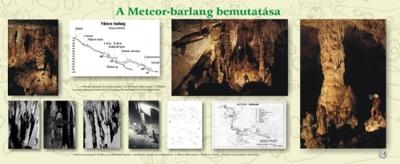 A Meteor-barlang bemutatása kiállítási tablókép