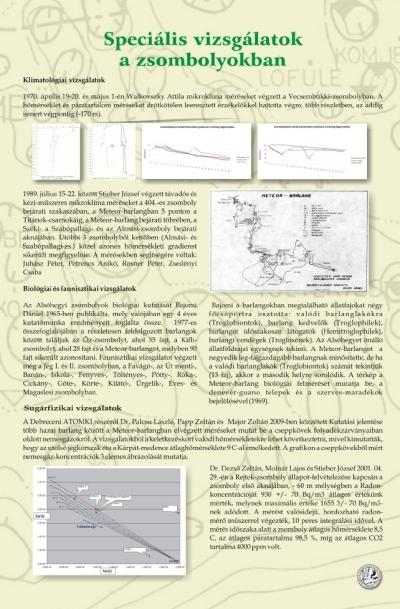 Speciális vizsgálatok a zsombolyokban kiállítási tablókép