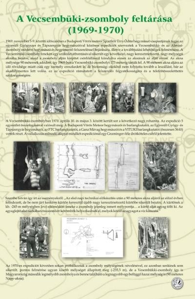 A Vecsembükki-zsomboly feltárása ( 1969-1970 ) kiállítási tablókép