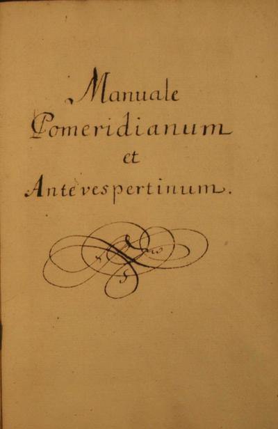 Manuale Pomeridianum et Antevespertinum