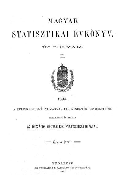 Magyar statisztikai évkönyv 1894. Ú. F. 2.