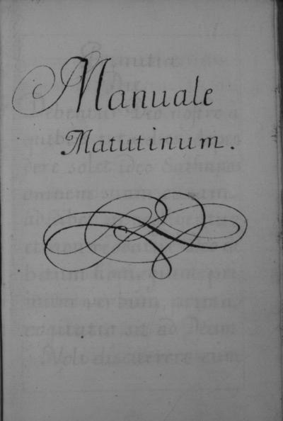 Manuala Matutinum