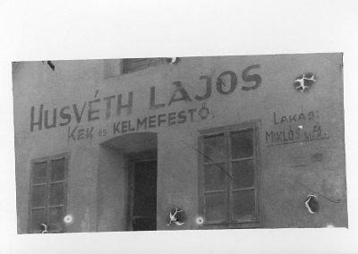 Fotó, Husvéth Lajos kék és kelmefestő épülete