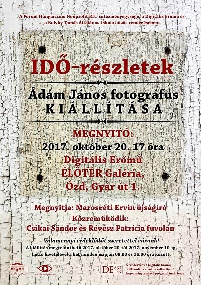 IDŐ-részletek - Ádám János fotográfus kiállítása