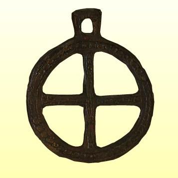 Öntött bronz kerék formájú szíjelosztó