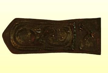 Öntött bronz kisszíjvég