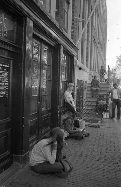 Anne Frank háza előtt