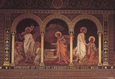 A feltámadt Krisztus és Szent Péter apostol a Székesegyházban