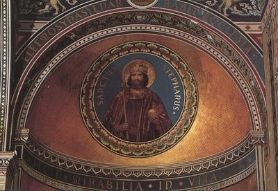 Szent István király a Székesegyház oldalhajóján