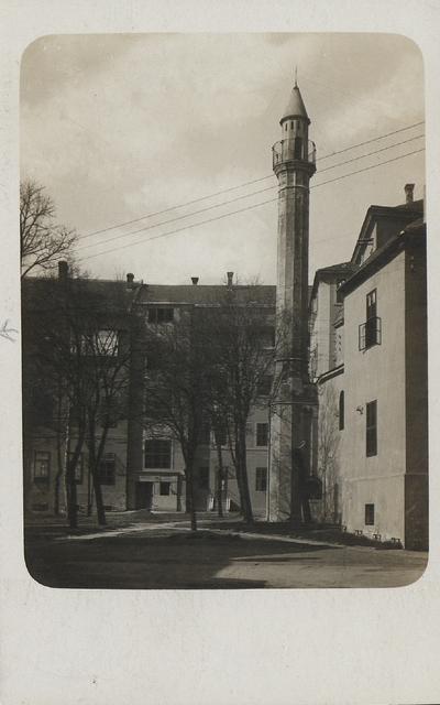 Török minaret a Rákóczi úton 1932-ben