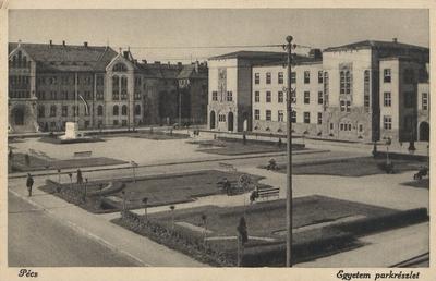 Jogi egyetemi parkrészlet 1936-ban