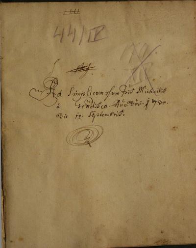 Compendium seu Brevis Introductio in Universam Aristoteles Logicam Propositum Budae … 1730 … sub Gubernio … Joannis de Straxemono
