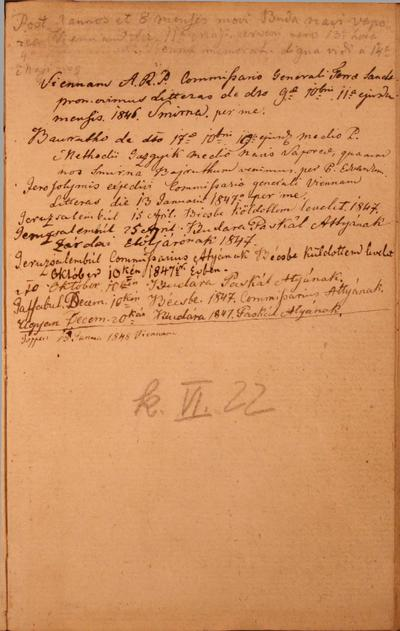 Levelezőkönyv, Napló