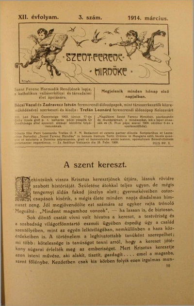 Szent Ferenc Hírnöke 1914. március
