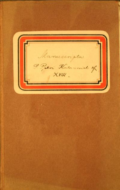 Notiones epigrammaticae, e Grutero; Pag. 1-28 et 29, 30-34