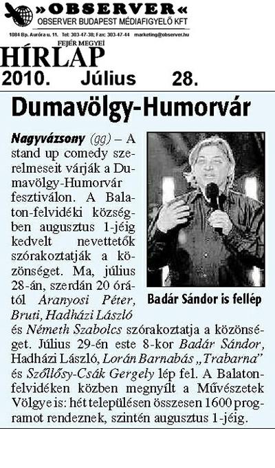 Dumavölgy-Humorvár