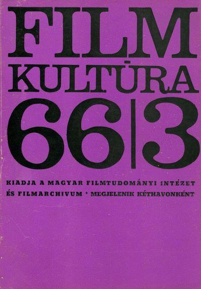 Filmkultúra 1966/3. szám