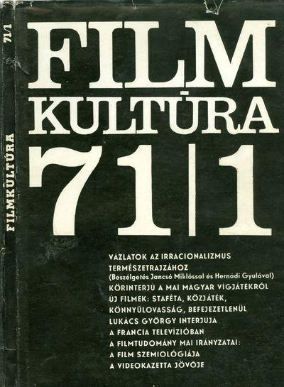 Filmkultúra 1971/1. szám