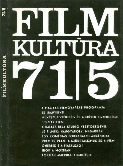 Filmkultúra 1971/5. szám