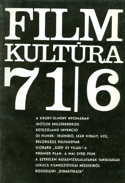 Filmkultúra 1971/6. szám