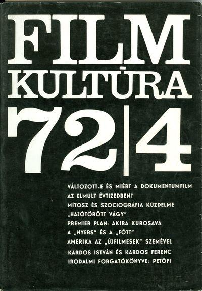 Filmkultúra 1972/4. szám