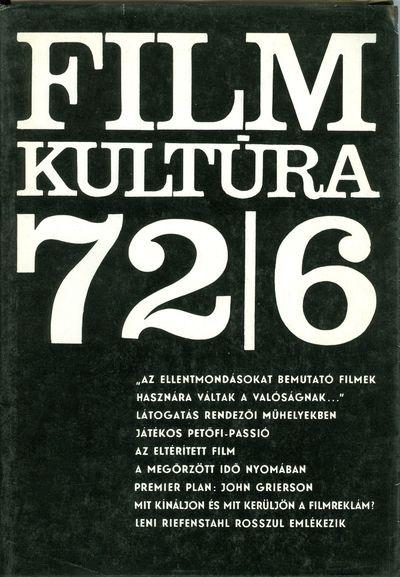 Filmkultúra 1972/6. szám