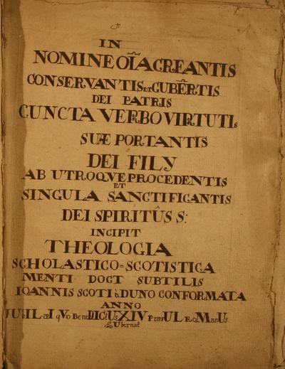 Theologia Scholastico Scotistica