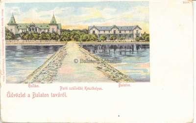 Üdvözlet a Balaton taváról. Parti szállodák Keszthelyen. Hullám, Balaton
