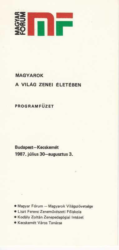 Magyarok a világ zenei életében