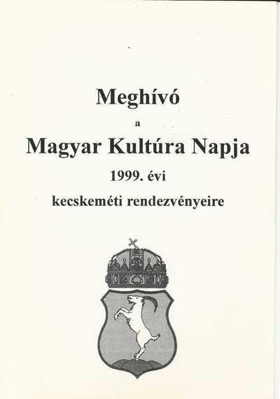Meghívó Magyar Kultúra Napja