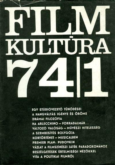 Filmkultúra 1974/1. szám
