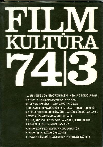 Filmkultúra 1974/3. szám